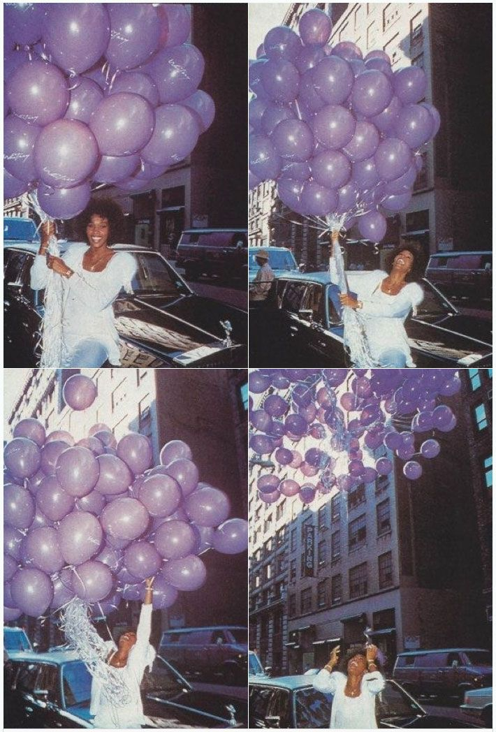 Whitney Houston - purple was her absolute favorite color!