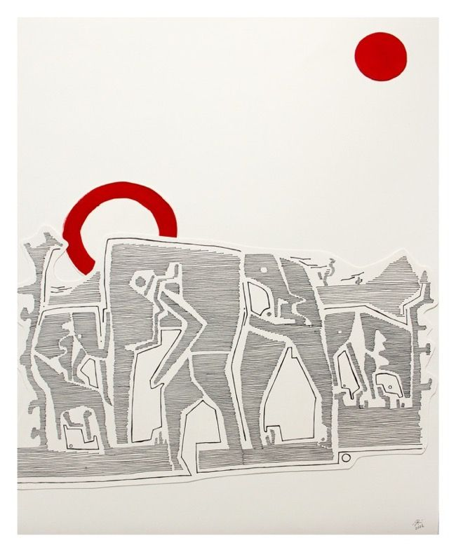 Renée Rossouw The Elephant Mixed Media 53.5 x 41.5 cm R3 800