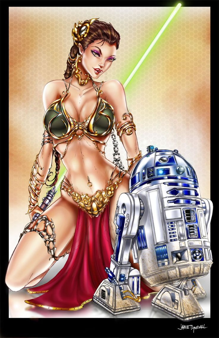 Princess Leia by *jamietyndall: Princessleia, Girls Illustrations, Jamie Tyndal, Slave Leia, Stars War, Empire Magazines, Comic Cartoon Nerdy Stuff, Starwars, Read Princesses