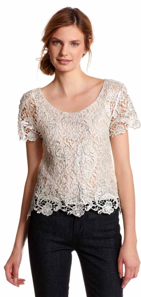 Greylin Eve Pretty Lace Blouse
