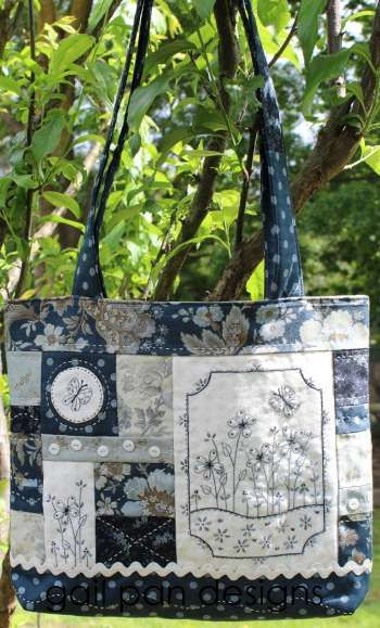 Blue Butterfly Bag  pattern by Gail Pan Designs. available now at www.fabricpatch.com.au