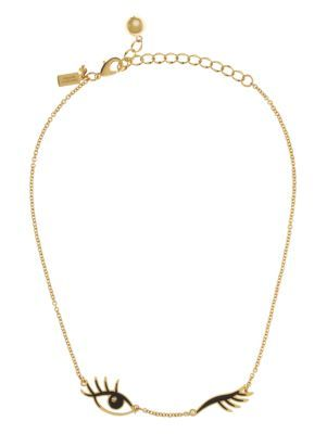 kiss and make up wink necklace - kate spade new york