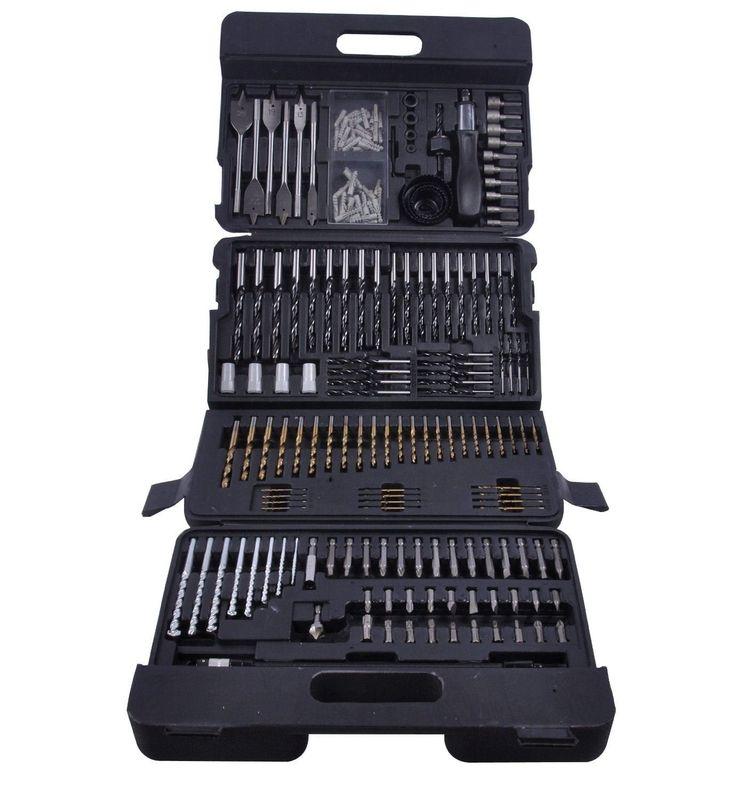 Terratek 204pc Combination Drill Bit Set, Includes HSS