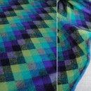 Tissus à carreaux, Playful rhombic wool tricot fabric/1 m est une création orginale de BaPanda sur DaWanda