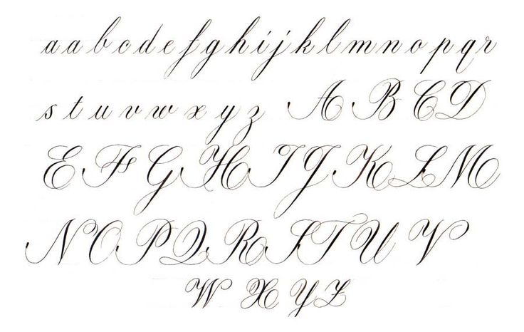 Copperplate Calligraphy Scroll Letter Pinterest