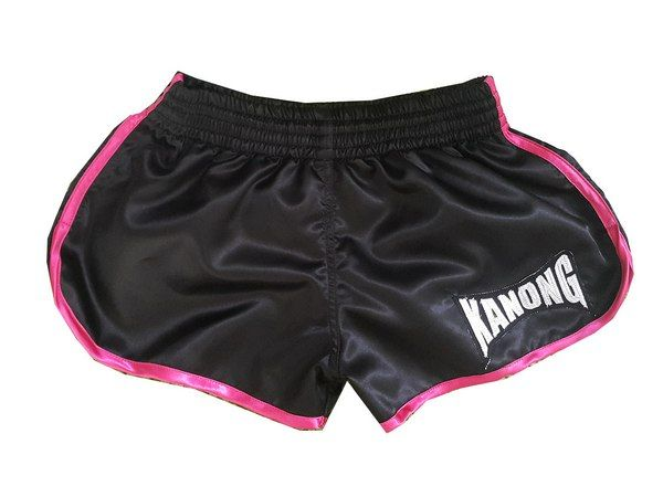 Kanong Women Muay Thai Boxing shorts : KNSWO 402 Black