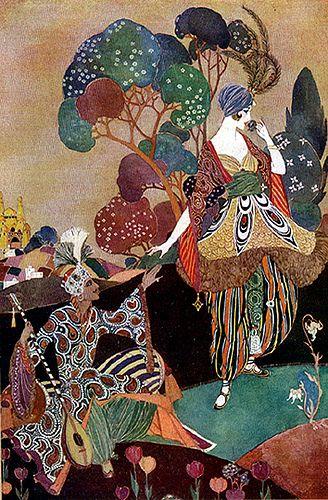 Vintage Art Deco Balfour Illustration—Colorful Concoction of Rioting Colors