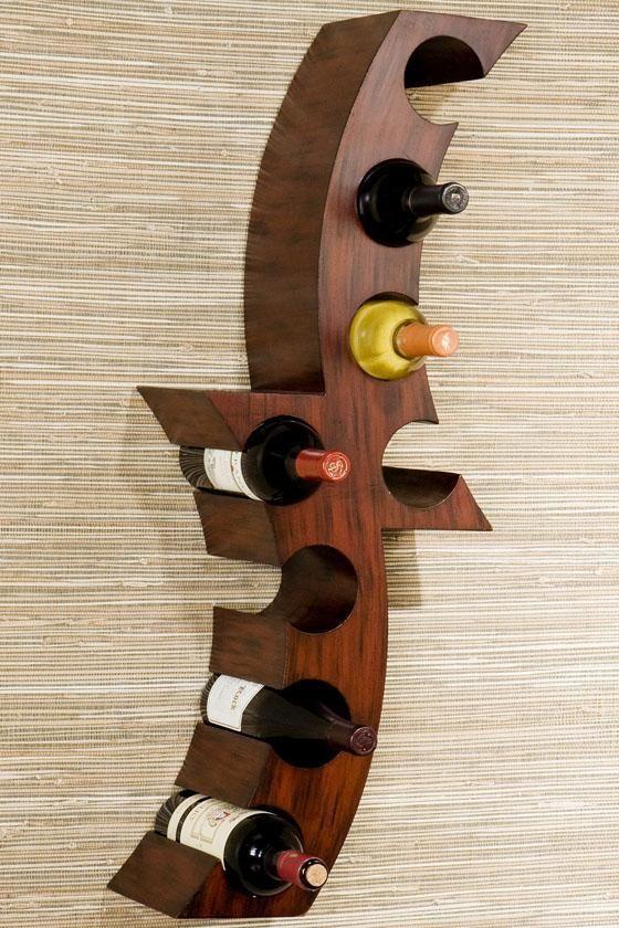 Calabria Wall-Mount Wine Rack - Wine Racks - Home Bar Furniture - Furniture | HomeDecorators.com