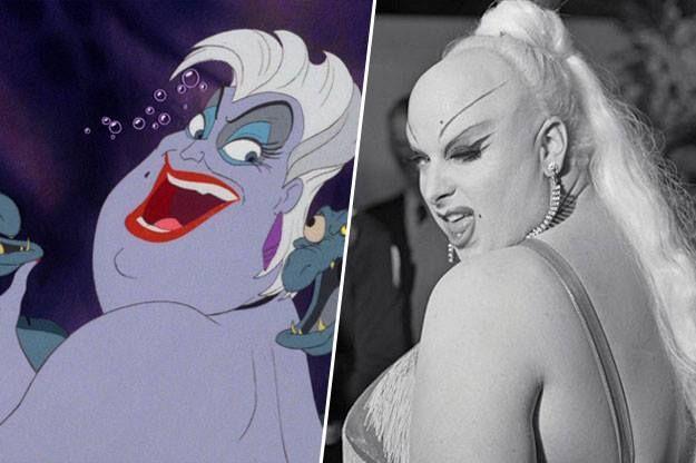 Úrsula, la villana de La Sirenita, está inspirada en la Drag queen estadounidense Divine