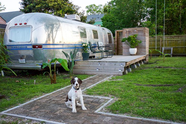 candace-s:  hotrodzandpinups:  dreamhousetogo:  A renovated 1979 Airstream at Vintage Airstream Vacation Rental in New Orleans, LA  HRP  Awesome..