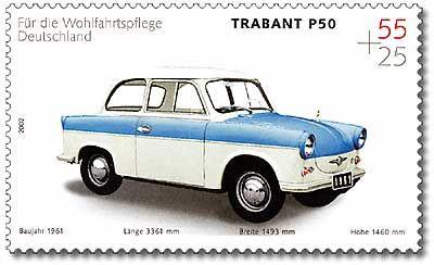 Stamp Germany 2002 MiNr2290 Trabant.jpg | ~ https://de.pinterest.com/supertick57/auto-trabant-ddr-de-19571991/