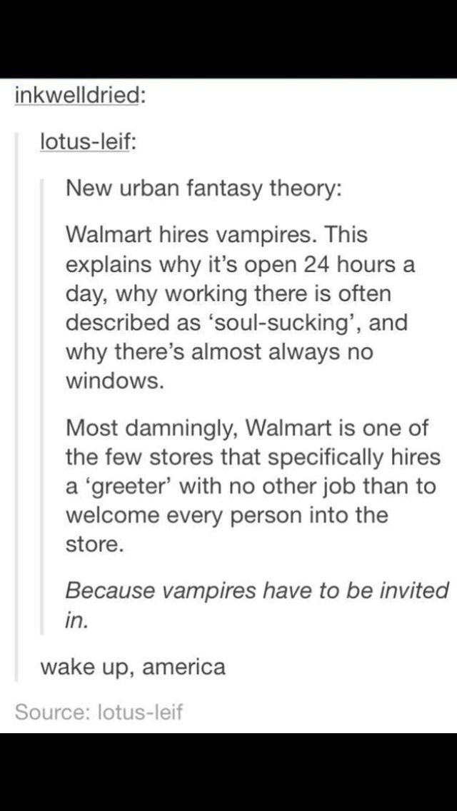 Walmart Hires Vampires