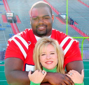 Leigh Ann Tuohy and Michael Oher.