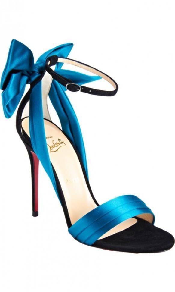 Christian Louboutin Vampanodo cadeau bleu arc printemps sandale prix: 945 $