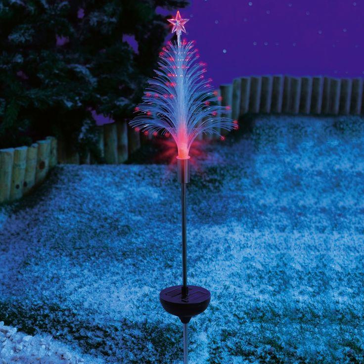 Vitrine Magique - piquet solaire outdoor sapin fibre optique