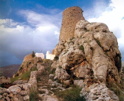Hora, the old capital of the island of Kalymnos lays under the castle which remains the only settlement from the 15th century which continues functioning and being highly populated.