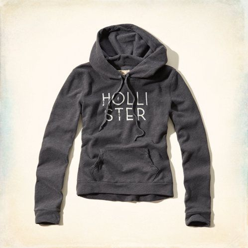 Supersoft fleece, iconic logo embroidery with shine thread, hideaway front pocket, drawstring hood, Vintage Hollister Wash, Classic Fit, Imported<br><br>60% cotton / 40% polyester