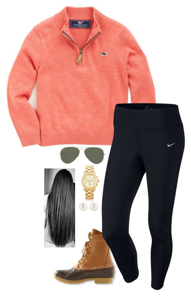 """praying for Paris "" by sassy-and-southern ❤ liked on Polyvore featuring Vineyard Vines, L.L.Bean, NIKE, Ray-Ban, Michael Kors, Henri Bendel, PrayersForParis and sassysouthernwinter"
