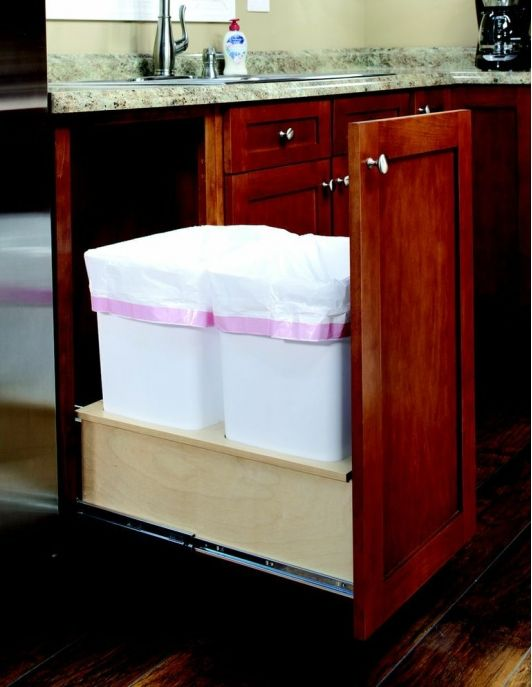 366 best Kitchen Waste Management images on Pinterest Kitchen - kitchen trash can ideas