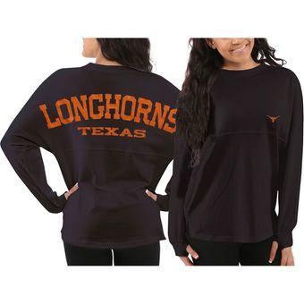 Texas Longhorns Women's Sweeper Long Sleeve Oversized Top – Gray
