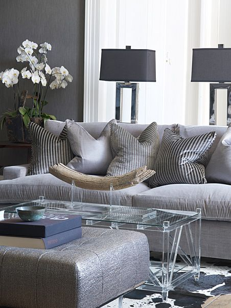 Sophistication, refined, edgy and metallic enhanced interior by Andrew Martin!