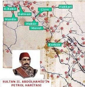 II. Abdülhamit'n Hazırlattığı Petrol Haritası http://www.gencharitaci.net/ii-abdulhamitn-hazirlattigi-petrol-haritasi/