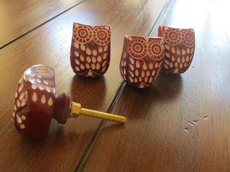 dresser knobs owl drawer knobs red drawer pulls cupboard knobs drawer handles dresser pull