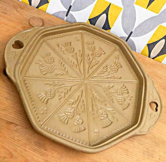 Large Shortbread Mould . Shortbread Mold . Cookie Pan . Cookie Mould . Biscuit Tin .  Bakeware . Baking Tin .  Brown Bag Cookie Mold tray