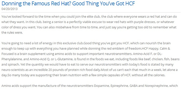 Donning the Famous Red Hat? Good Thing You've Got HCF