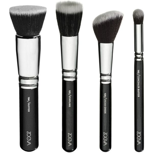 Vegan Brush Set (280 QAR) ❤ liked on Polyvore featuring beauty products, makeup, makeup tools, makeup brushes, beauty, filler, fillers - black, set of makeup brushes and set of brushes