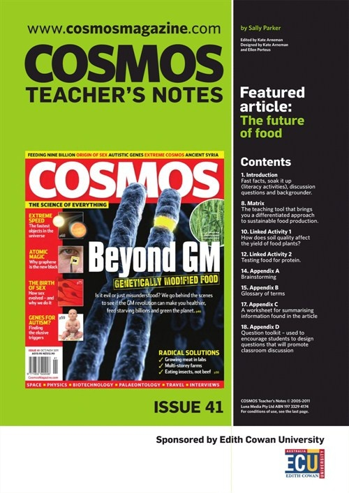 Teachers Notes INT : Issue 41, Future of Food
