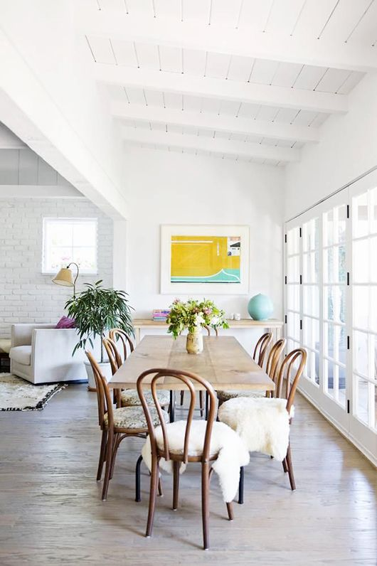 bentwood dining room chairs. white loft. More