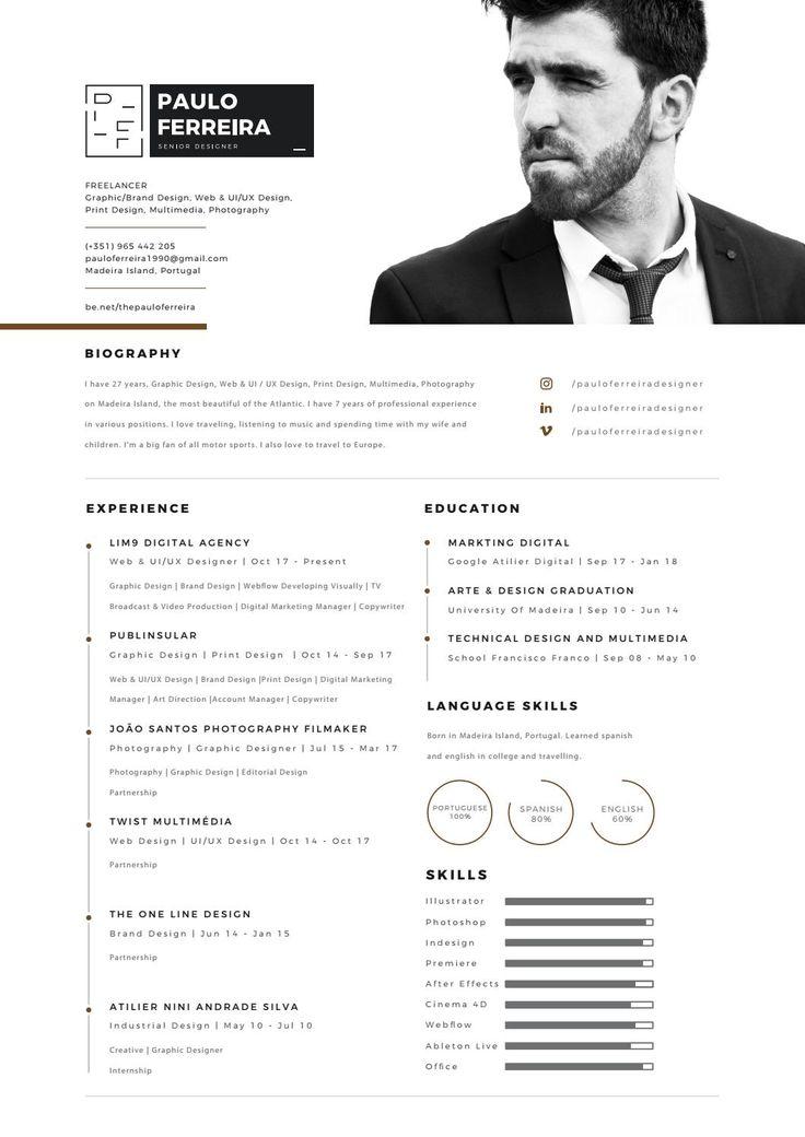 Paulo Ferreira Senior Designer CV