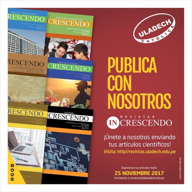 Revista INCRESCENDO convoca envío de artículos científicos!