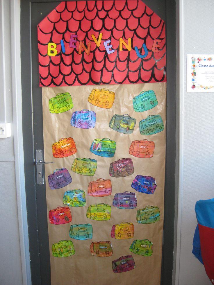 Ma porte de classe pour cette premi re p riode ecole for Decoration porte rentree des classes