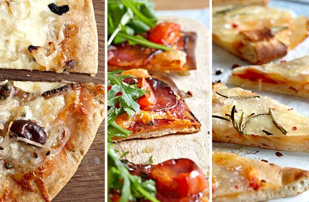 Her får du en god grundopskrift på pizzadej og 3 forslag til lækkert fyld. Buon appetito!