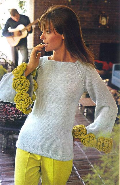Swinging Sweaters -frivolous & fanciful    Woman's Day Magazine, Oct 1966