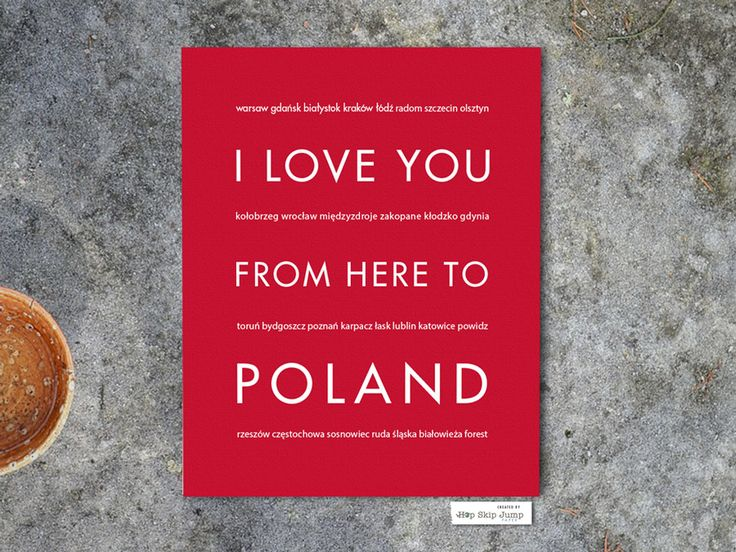 Celebrate your European travel adventure with this unique wall print. Treasure your travel memories or Polish heritage with this original poster. small text: warsaw gdańsk białystok kraków łódź radom