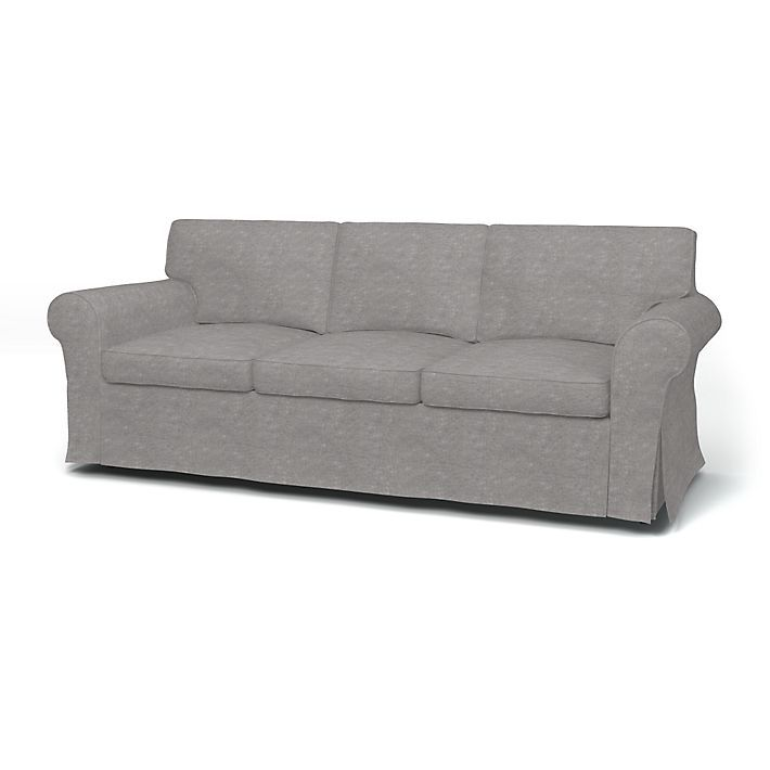 Ektorp, Sofa Covers, 3 Seater, Regular Fit using the fabric Zaragoza Vintage Velvet Zinc