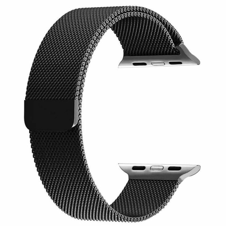 Apple Watch Band, BRG Fully Magnetic Closure Clasp Mesh Loop iwatch 38mm- black #BRG