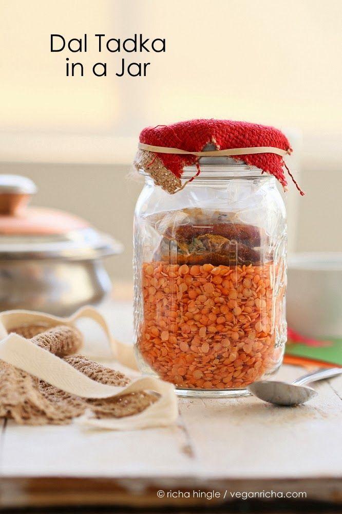 Dal Tadka Mix in a Jar. Pink Lentil soup. Vegan Glutenfree Recipe | Vegan Richa