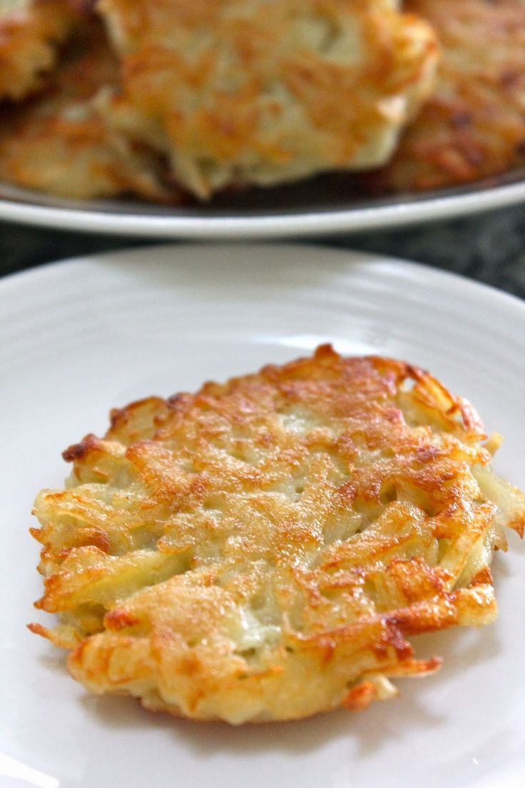 :Kartoffelpuffer: German Potato Pancakes - a yummy addition to breakfast, definitely drain the grated potato and I might add a little more onion
