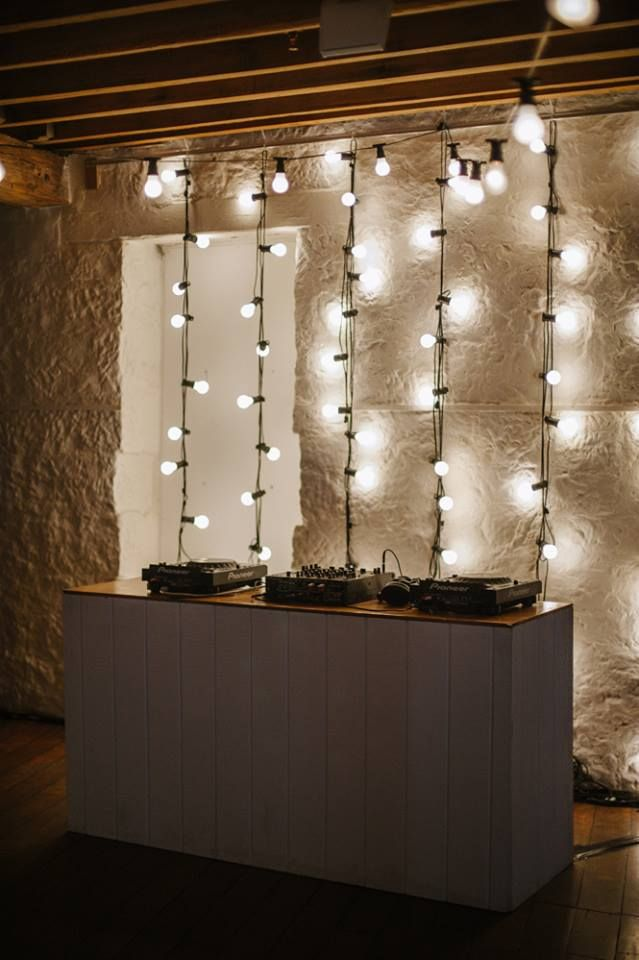 Romantic lighting   Georgeous Occasions- Hanging festoon lighting