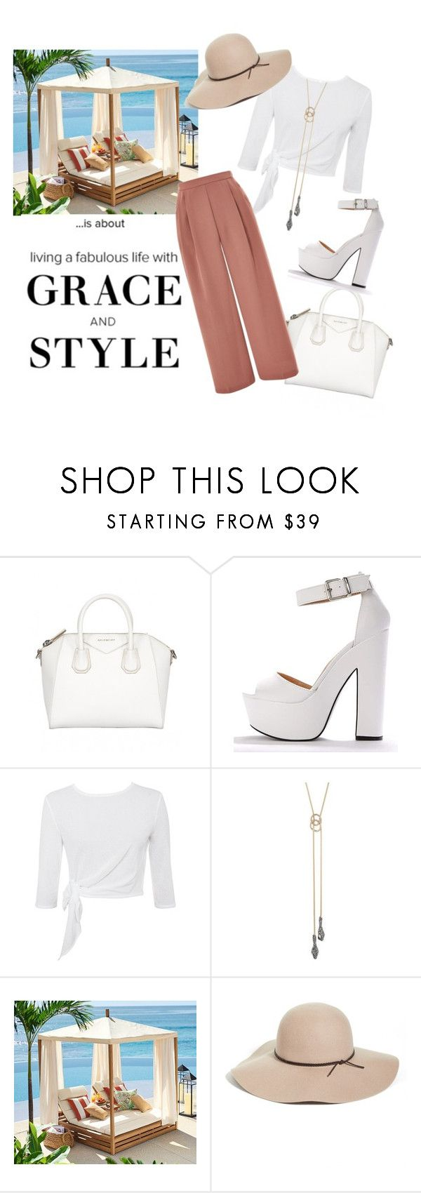 """""""Untitled #63"""" by xpinkz ❤ liked on Polyvore featuring Alexis Bittar, Pottery Barn, Halogen and Topshop"""
