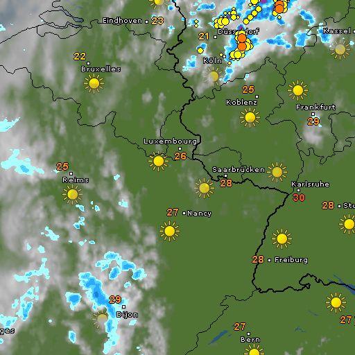 WetterRadar – Regen, Blitze und Wolken live – WetterOnline
