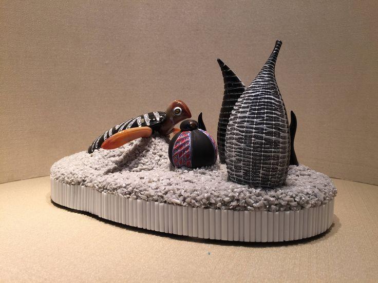 scultura in vetro con tartaruga / scultura astratta in vetro / vetro di murano / murano glass / glass turtle / murrine / monoliths di Sanmarcoartedesign su Etsy
