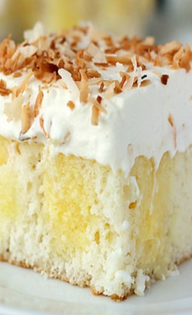 Triple Coconut Poke Cake