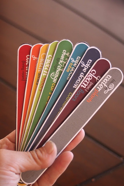 chore sticks... free printable labels