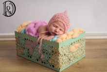 Wholesale Handcraft Baby Crochet Mohair Bonnet Baby Shower Gift Baby Photography Props(China (Mainland))