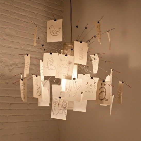 You always forget things and you don't know where to note down them. Problem solved, by this lamp of Ingo #Maurer